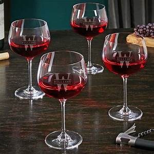 Oakmont, Custom, Balloon, Wine, Glasses, Set, Of, 4