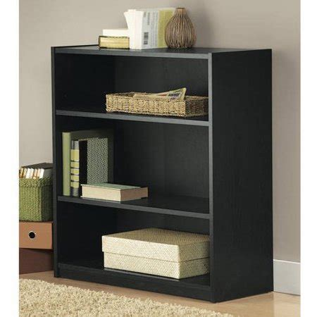 Mainstays 3 Shelf Bookcase Black by Mainstays 3 Shelf Wood Bookcase Colors Walmart
