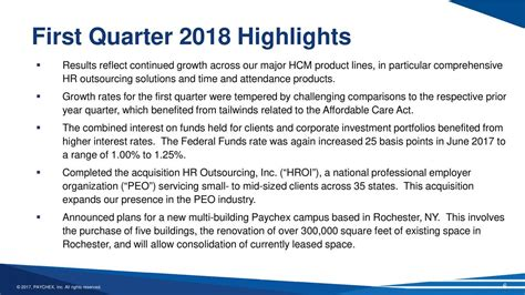 Paychex, Inc. 2018 Q1 - Results - Earnings Call Slides ...