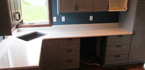 home design evansville quartz kitchen countertop w bevel edge and custom