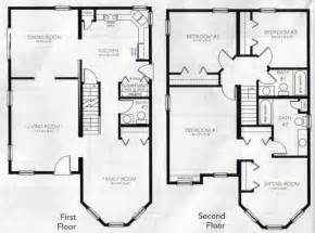 4 bed house plans two story house plans