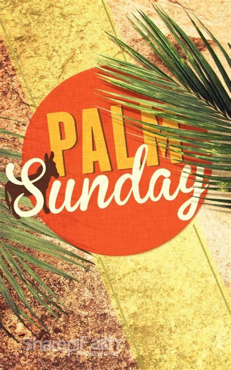 palm sunday church program cover easter bulletins