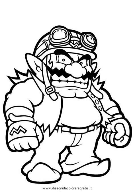 personaggi da colorare mario disegno wario 1 personaggio cartone animato da colorare