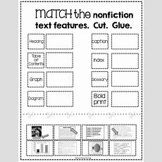 Free Nonfiction Text Features Matching Activity  Tpt Free Lessons  Nonfiction Text Features
