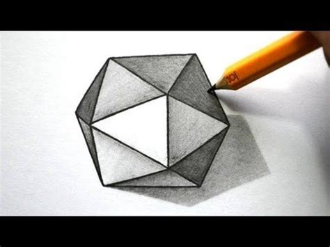 draw  optical illusions impossible hexagon