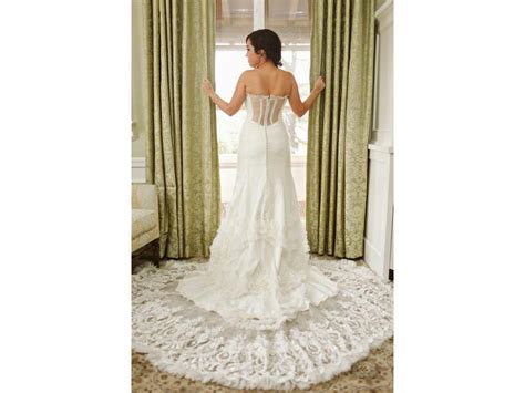 Trumpet Lace Wedding Dress Illusion Back · Onlyforbrides