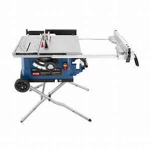 10 In  Table Saw With Wheeled Stand