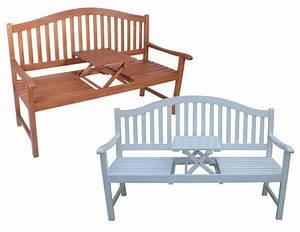 Gartenbank Weiss Natur Bank Holzbank Garten Holz