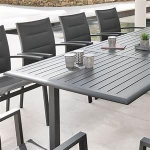 Table De Jardin Extensible Aluminium : table de jardin extensible aluminium azua 240 x 100 cm ~ Teatrodelosmanantiales.com Idées de Décoration