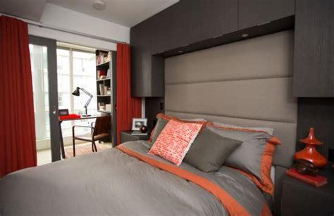 deco chambre orange décoration petit studio en 60 idées magnifiques