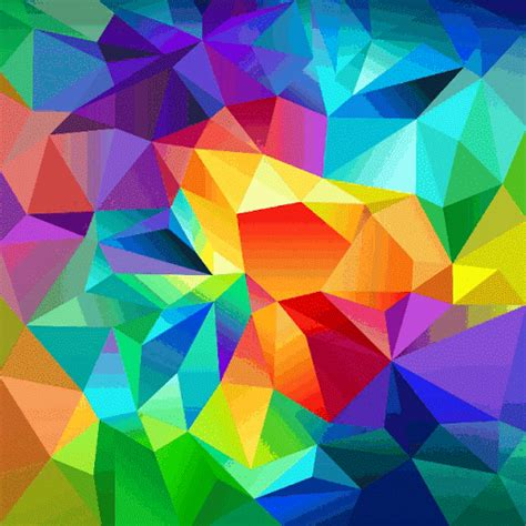 colorful gif colorful abstract expanding and contracting in center