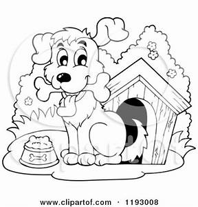 Dog House Clipart Black And White