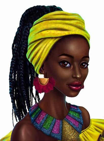 Transparent African Woman Beauty Hu 3d Cartoon