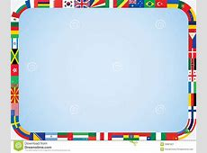 World flags frame stock vector Illustration of background