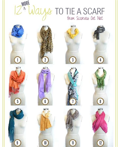 12 More Ways To Tie A Scarf For Every Season