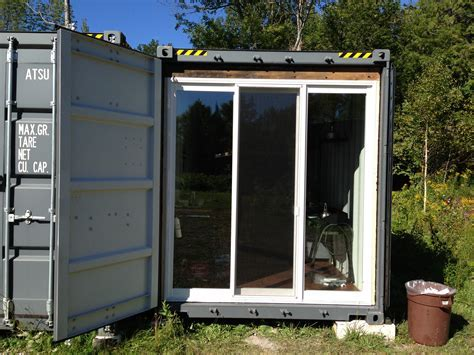 Construction Office Set Up in Shipping Container   Sea