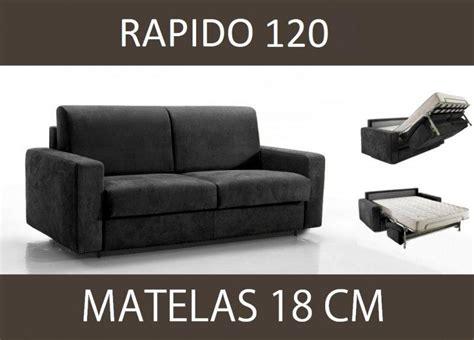 canapé convertible 120 cm canape lit 2 places master convertible ouverture rapido