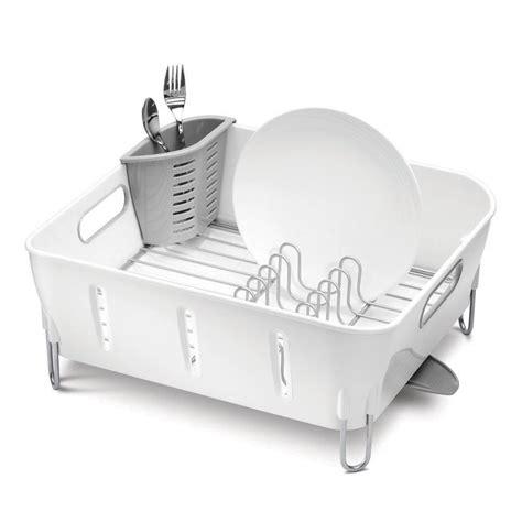 kitchen dish storage buy simplehuman white compact dish rack amara 1554