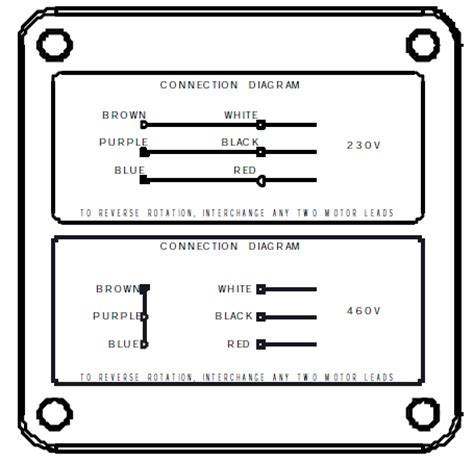 460 Volt Motor Wiring Diagram by Powerstar 725 Series Right Angle Hypoid Gearmotor 3ph 230