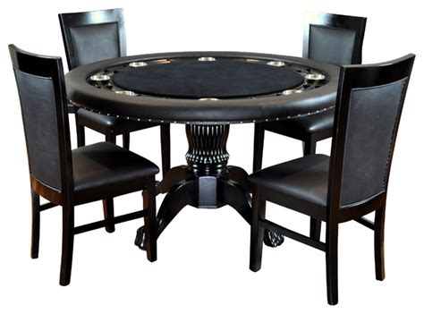 poker table and chips set bbo poker the nighthawk round poker table set with 4