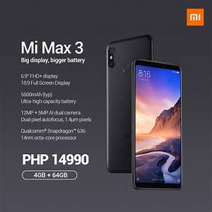 Xiaomi Mi Max 3 Is Coming To The Philippines  Priced At Php14 990