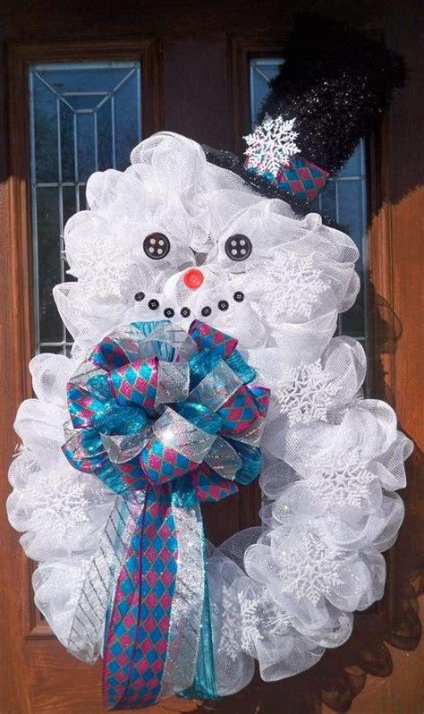snowman wreath ideas     gorgeous christmas wreath