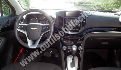 obd connector location  chevrolet orlando
