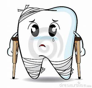 Cute Cartoon Decay Tooth Or Injury Stock Illustration ...
