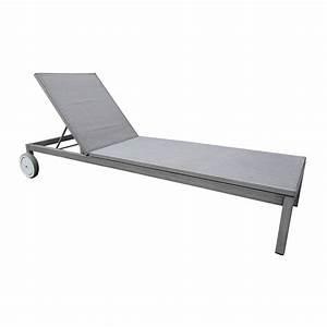 Bain De Soleil En Aluminium : bain de soleil de jardin en aluminium thema argent leroy ~ Teatrodelosmanantiales.com Idées de Décoration