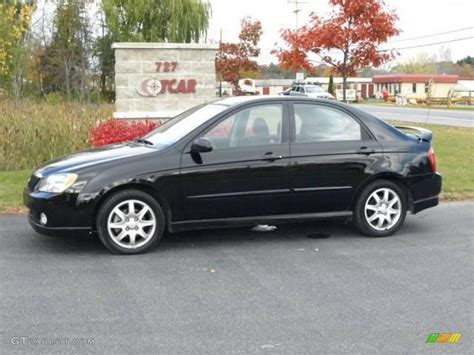 2006 Ebony Black Kia Spectra Sx Sedan 20238610 Gtcarlot