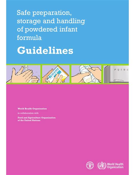 Safe Preparation Storage Handling Powdered Infant