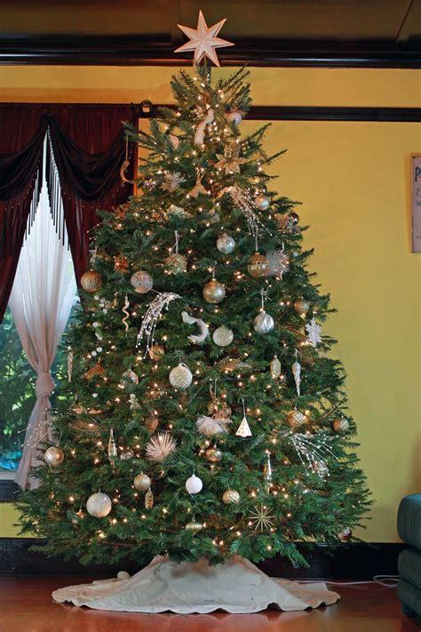 gold white christmas tree   kate