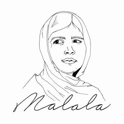 Malala Yousafzai Draw Line Drawings Pencil Truffaut