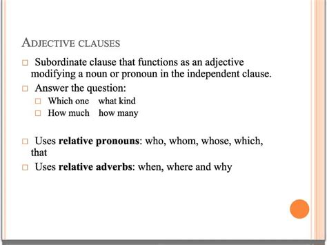 Resume Adjective Clause uncategorized adverb clause worksheet klimttreeoflife