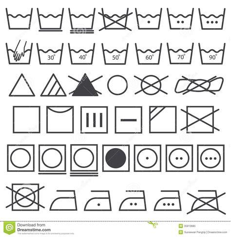laundry icons vector set washing symbol stock vector image 35910680