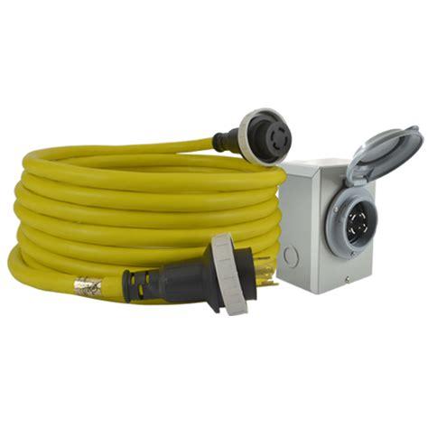 home depot l cord 30 amp inlet box cord combo nema l14 30 conntek