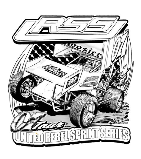 Sprint Car Colouring Pages Page 2
