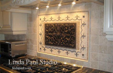 tile medallions for kitchen backsplash kitchen backsplash tile murals by linda paul studio by linda paul at coroflot com