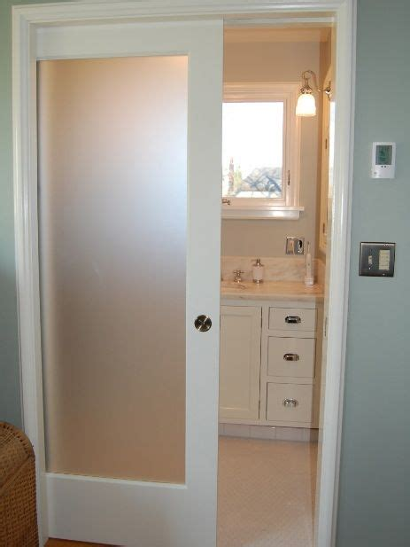 Bathroom Glass Door Ideas by White Sliding Bathroom Doors For Small Spaces With Single