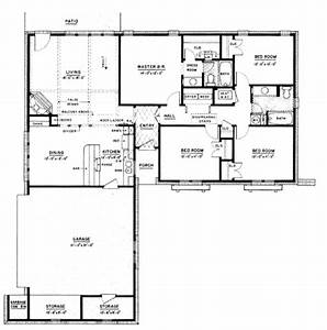 Ranch Style House Plans 3000 Square Foot Home 1 Story 4 ...