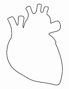 Human heart pattern. Use the printable outline for crafts ...