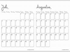 Kalender 2018 Uitprinten