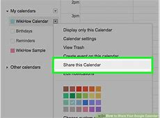 How to Share Your Google Calendar 14 Steps with Pictures