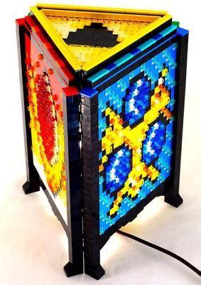 legend  zelda inspired lamp built  lego bricks