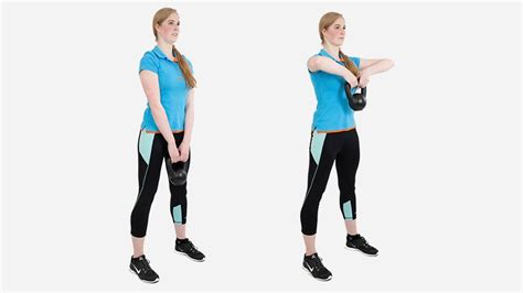 kettlebell upright row coolblue exercises voor step stap