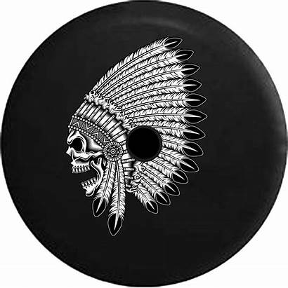 Tire Spare Chief Indian Skull Jl Jeep
