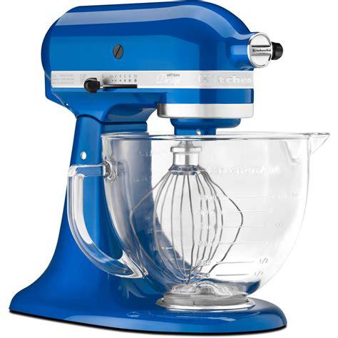 Kitchenaid Mixer Glass Bowl by Kitchenaid Electric Blue Tilt Artisan Stand Mixer 5 Qt