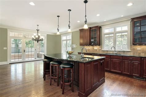 top 40 kitchen wall colors with dark cherry cabinets for