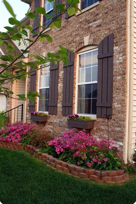 brick flower bed front beds yard edging garden window pavers shutters raised landscaping flowers landscape flowerbed around bricks box boxes