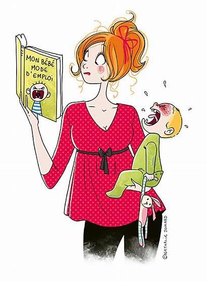 Motherhood Illustrations Jomard Nathalie Honest Mom Artist